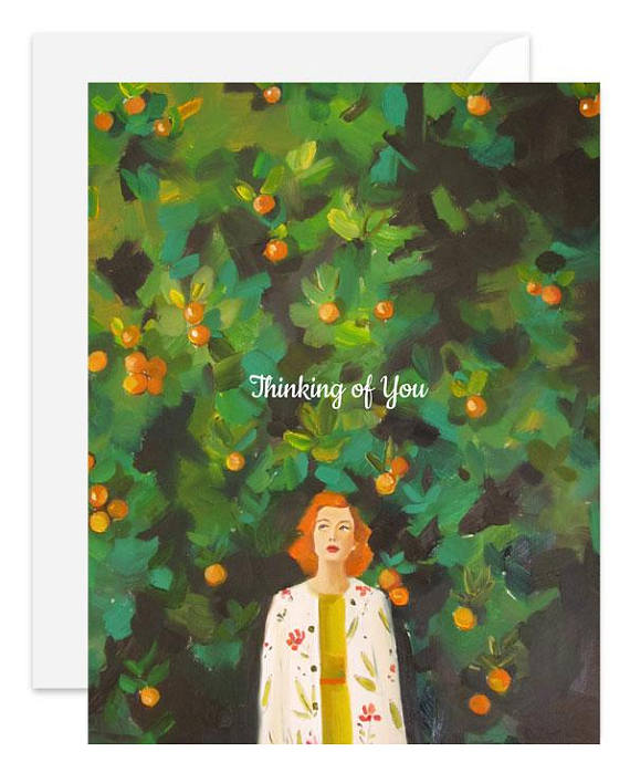 Thinking of You Card from Janet Hill Studio
