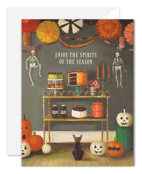 Enjoy the Spirits of the Season Card from Janet Hill Studio