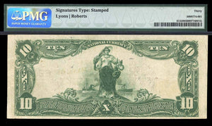 1902 – $10 Note – Little Rock – Arkansas – CH 6902 – FR 613 – PMG VF30