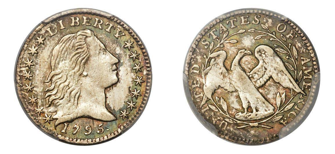1795 Flowing Hair Half-Dime PCGS MS62