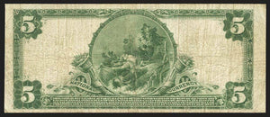 1902 - $5 Note - Whittier - California - CH 5588 - FR 607 - F15