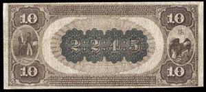 1882 $10 Note Mayfield – Kentucky – CH 2245 – FR 487 – VF20