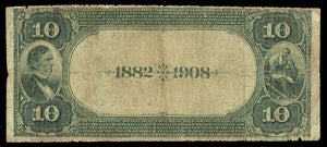 1882 $10 Note Frankfort – Kentucky – CH 5376 – FR 545 – VG/F 10