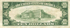1929 – $10 Note – Cannelton – Indiana – CH 9401 – FR 1801-1 – VF20