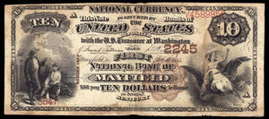 1882 $10 Note - Mayfield – Kentucky – CH 2245 – FR 487 – F12