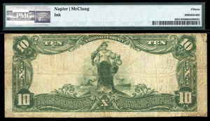 1902 $10 Note Spencer – West Virginia – CH 10127 – FR 628 – PMG  CF15