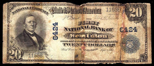 1902 - $20 Note - West Union - West Virginia - CH 6424 - FR 650 RAW 6