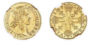 1642-A 1 Louis d'Or NGC MS64