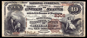 1882 - $10 Note - Waterville - Maine - CH 2306 - FR 487 - VF20