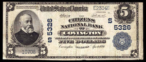 1902 $5 Note Covington – Virginia – CH 5326 – FR 607 – F12