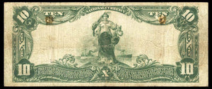 1902 $10 Note Durham – North Carolina – CH 3811 – FR 626 – F12