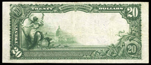1902 - $20 Note - Watertown - Wisconsin - CH 1010 - FR 624 - VF20