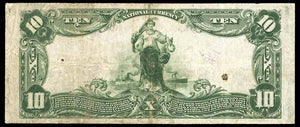 1902 - $10 Note - Watertown - Wisconsin - CH 9003 - FR 626 - VF20