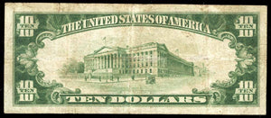 1929 – $10 Note – Birmingham – Alabama – CH 7020 – FR 1801-1 – VF20
