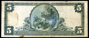 1902 $5 Note New Haven – Connecticut – CH 1202 – FR 598 – VF20