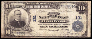 1902 $10 Note Hartford – Connecticut – CH 121 – FR 624 – F12
