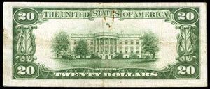 1929 - $20 Note - Washington - District of Columbia - CH 5046 - FR 1802-1 - VF20