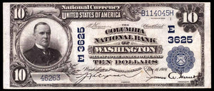 1902 - $10 Not - Washington - District of Columbia - CH 3625 - FR 626 - VF20