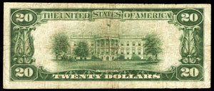 1929 - $20 Note - Washington - District of Columbia - CH 7446 - FR 1802-1 - F12
