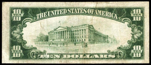 1929 - $10 Note - Washington - District of Columbia - CH 7446 - FR 1801-1 - VF20