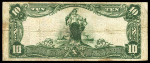 1902 - $10 Note - Washington - District of Columbia - CH 1069 - FR 625 - F12