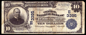 1902 - $10 Note - Wilmington - Delaware - CH 3395 - FR 625 - VG/F10