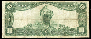 1902 $10 Note Clay Center – Kansas – CH 3072 – FR 624 – F12+