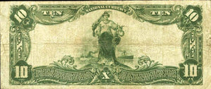 1902 – $10 Note – Belleville – Pennsylvania – CH 10128 – FR 628 –  VF20