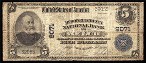 1902 - $5 Note - Welch - West Virginia - CH 9071 - FR 600 - VG8