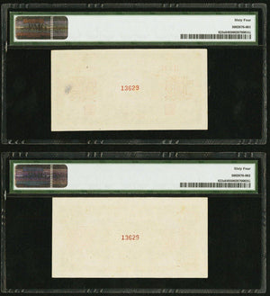 "1949 20 Yuan China Peoples Bank of China Pick 823s Face and Back ""Specimens"" PMG CU64"