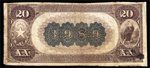 1889 $20 Note - Sulphur Springs – Texas – CH 3989 – FR 497 – F12