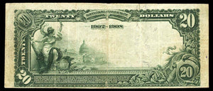 1902- $20 Note - Abbeville - CH 3421- FR 643 - South Carolina VF20