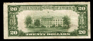 1929 – $20 Note – Salt Lake City – Utah – CH 9652 – FR 1802-1 – VF20