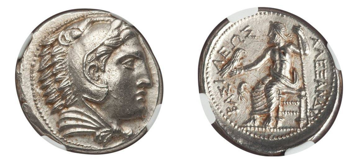 336-323 BC Early posthumous issue Alexander III, 'The Great' AR Tetradrachm NGC MS 5/5 - 4/5