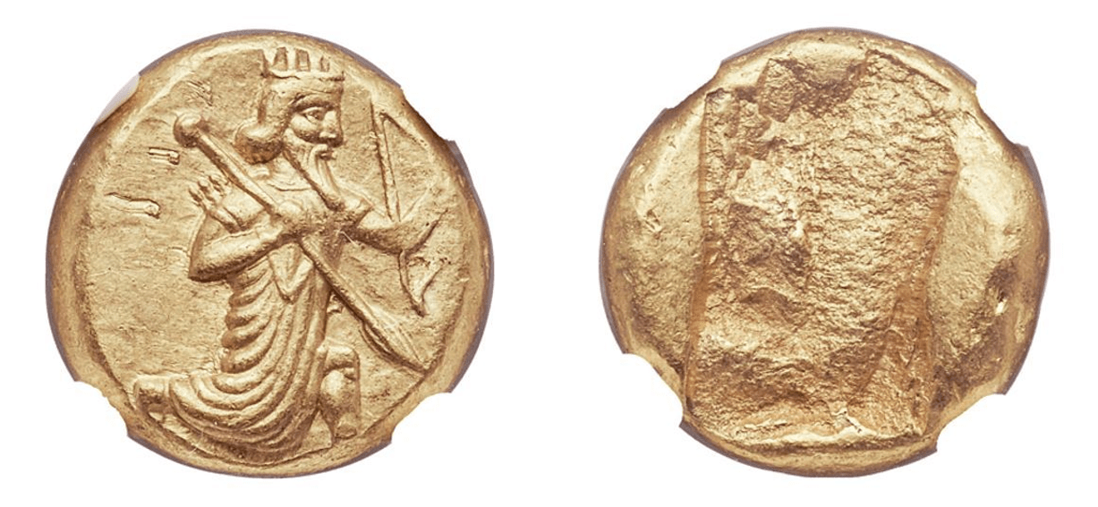 420-375 BC 5th-4th Century AV Daric NGC MS