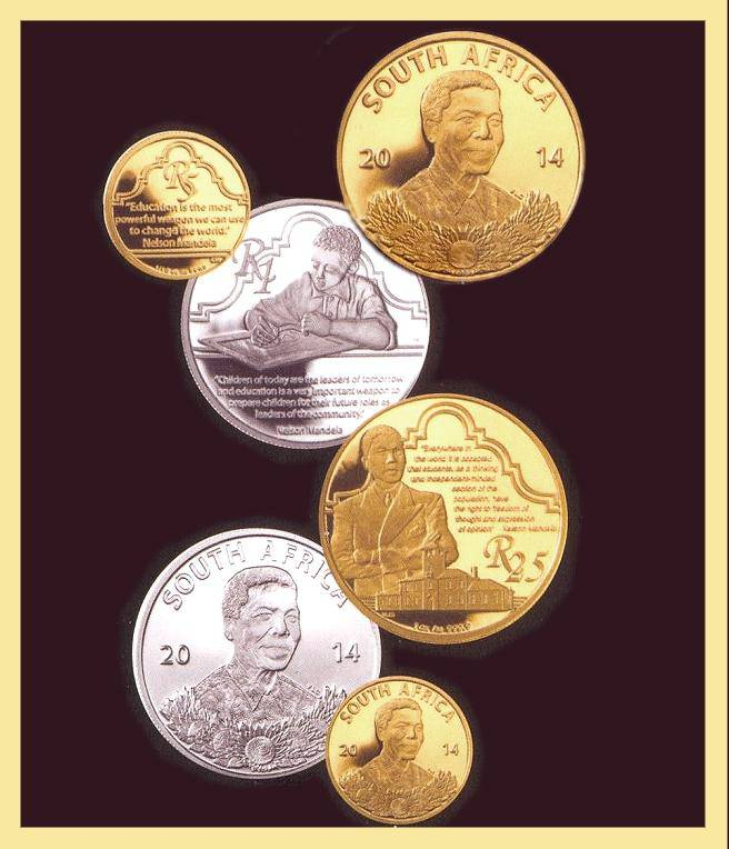 "2014  3 pc. ""Protea Prestige Proof set/Life of a Legend-Nelson Mandela"" Gem Proof"