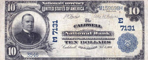 1902 – $10 Note – Caldwell – New Jersey – CH 7131 – FR 624 – VF20