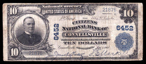 1902 $10 Note Connellsville – Pennsylvania – CH 6452 – FR 624 – F12