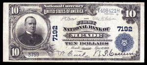 1902 – $10 Note - Meade – Kansas – CH 7192 – FR 624 – VF20