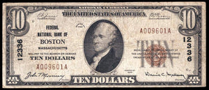 1929 $10 Note Boston – Massachusetts – CH 12336 – FR 1801-1 – F12