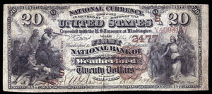 1882 - $20 Note - Weatherford - Texas - CH 2477 - FR 504 - VG8