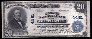 1902 $20 Note Connellsville – Pennsylvania – CH 4481 – FR 653 – VF20