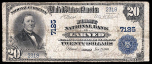 1902 – $20 Note – Larned – Kansas – CH 7125 – FR 650 – F12