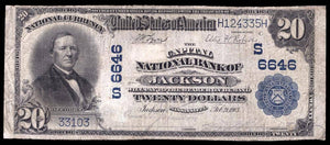1902 $20 Note Jackson – Mississippi – CH 6646 – FR 650 – F15+