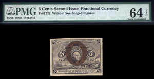 1863 - $0.05 Note - FR 1232 Second Issue - Fractional Currency - PMG CU64 EPQ