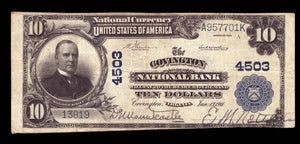 1902 $10 Note Covington - Virginia - CH 4503 - FR 627 - VF20