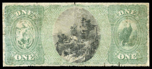 1865 $1 Note Southbridge – Massachusetts – CH 934 – FR 380 – VG8