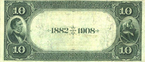 1882 $10 Note - Bradford – Pennsylvania – CH 2470 – FR 545 – VF20
