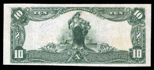 1902 – $10 Note – Brookville Bank – Indiana – CH 7805 – FR 624 –  XF40