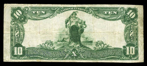 1902 – $10 Note – Frankfort – Indiana – CH 1854 – FR 628 – VF20
